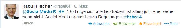 Tweet von Raoul Fischer, @raoul64