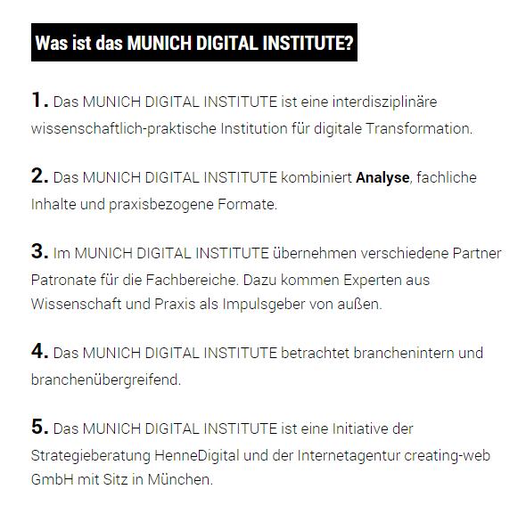 Was ist das Munich Digital Insitut